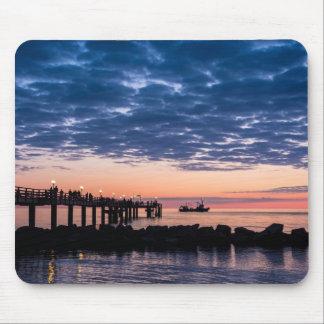Pier on shore of the Baltic Sea Mousepad