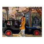 Pierce Arrow Girl Postcard