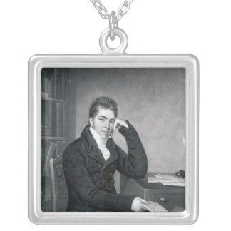 Pierce Egan, engraved by Charles Turner Silver Plated Necklace
