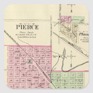 Pierce, Nebraska Square Sticker