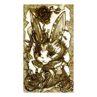 Pierced earring rabbit business card templates