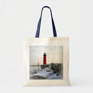 Pierhead Lighthouse, Kenosha Wisconsin Tote Bag