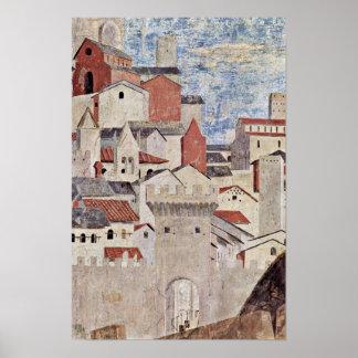 Piero della Francesca - Architectural scene Poster