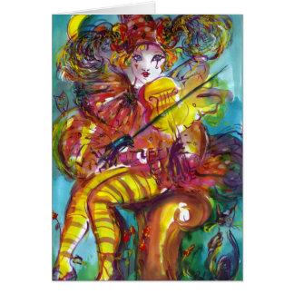PIERO / Venetian Carnival Night Greeting Card