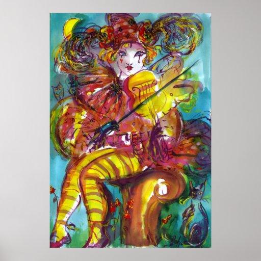 PIERO/ Venetian Carnival Night Print