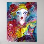 PIERO WITH CAT / Venetian Masquerade Masks