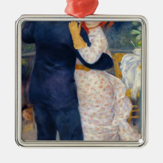 Pierre A Renoir | A Dance in the Country Silver-Colored Square Decoration