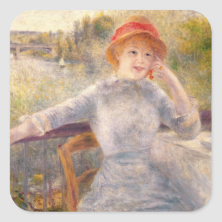 Pierre A Renoir | A. Fournaise at The Grenouillere Square Sticker
