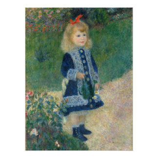 Pierre A Renoir | A Girl with a Watering Can