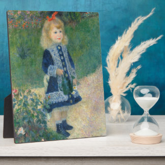 Pierre A Renoir | A Girl with a Watering Can Plaque