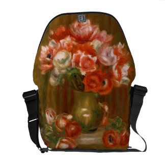 Pierre A Renoir | Anemones Messenger Bag