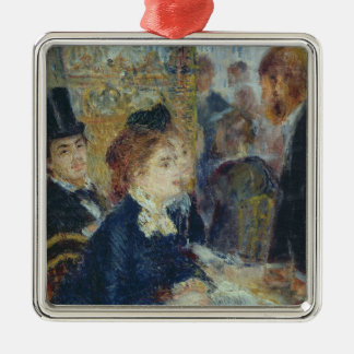Pierre A Renoir | At the Caf� Silver-Colored Square Decoration