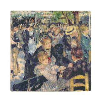 Pierre A Renoir | Ball at the Moulin de la Galette Maple Wood Coaster