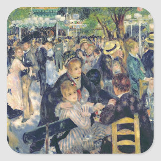 Pierre A Renoir | Ball at the Moulin de la Galette Square Sticker