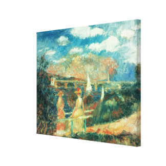Pierre A Renoir | Banks of the Seine at Argenteuil Canvas Print