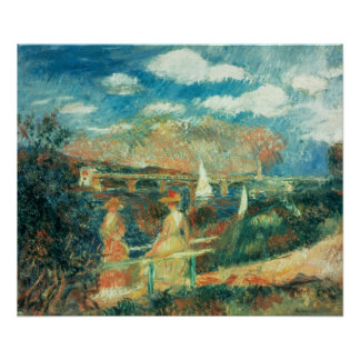 Pierre A Renoir | Banks of the Seine at Argenteuil Poster