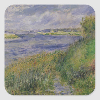 Pierre A Renoir | Banks of the Seine, Champrosay Square Sticker
