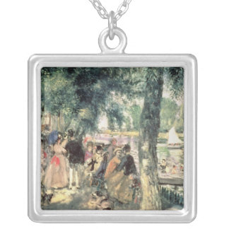 Pierre A Renoir | Bathing on the Seine  Silver Plated Necklace