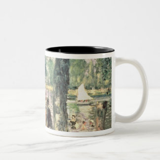Pierre A Renoir | Bathing on the Seine  Two-Tone Coffee Mug