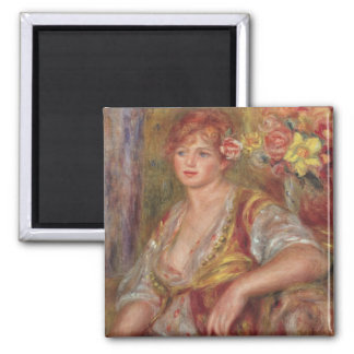 Pierre A Renoir | Blonde Woman with a Rose Magnet