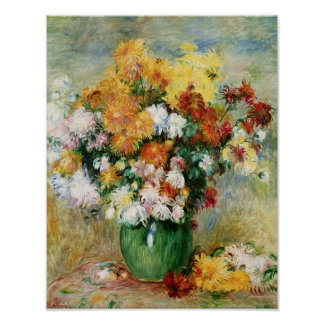 Pierre A Renoir | Bouquet of Chrysanthemums Poster