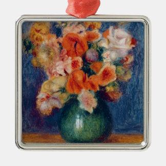 Pierre A Renoir | Bouquet Silver-Colored Square Decoration