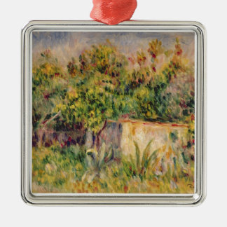 Pierre A Renoir | Cabin in a Clearing in a Wood Christmas Ornament