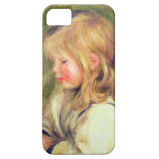 Pierre A Renoir | Child in a White Shirt Reading iPhone 5 Cases