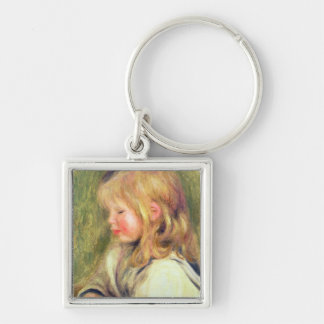 Pierre A Renoir | Child in a White Shirt Reading Key Ring
