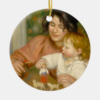 Pierre A Renoir | Child with Toys Christmas Ornament
