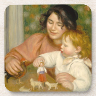 Pierre A Renoir | Child with Toys Drink Coaster