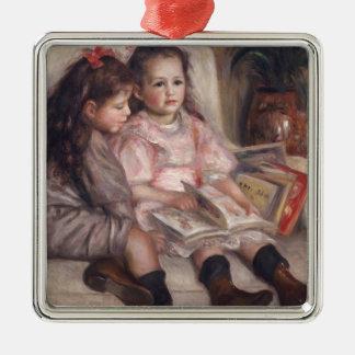 Pierre A Renoir | Children Of Martial Caillebotte Silver-Colored Square Decoration