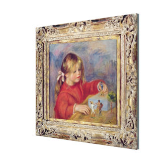Pierre A Renoir | Claude Renoir at Play Canvas Print