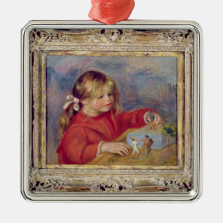 Pierre A Renoir | Claude Renoir at Play Christmas Ornament