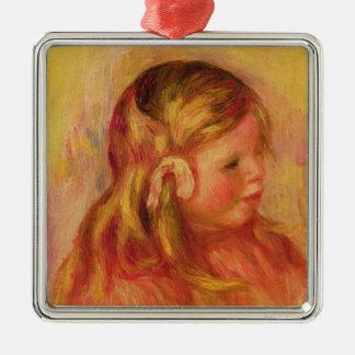 Pierre A Renoir | Claude Renoir Silver-Colored Square Decoration