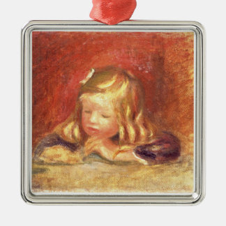 Pierre A Renoir | Coco at the Table  Christmas Ornament