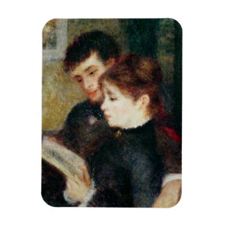 Pierre A Renoir | Couple Reading Rectangular Photo Magnet