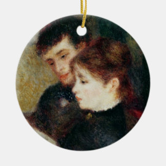 Pierre A Renoir | Couple Reading Round Ceramic Decoration