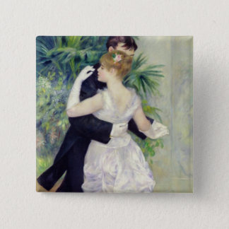 Pierre A Renoir | Dance in the City 15 Cm Square Badge