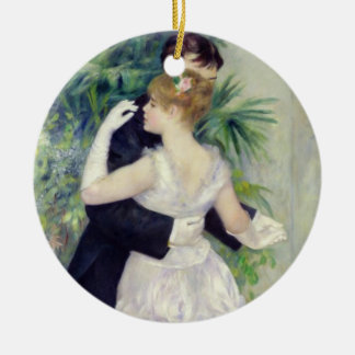 Pierre A Renoir | Dance in the City Round Ceramic Decoration