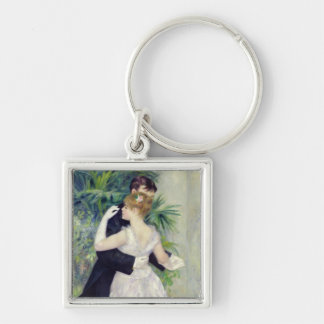 Pierre A Renoir | Dance in the City Silver-Colored Square Key Ring