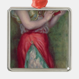 Pierre A Renoir | Dancing Girl with Tambourine Silver-Colored Square Decoration