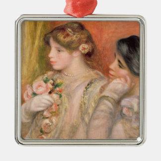 Pierre A Renoir | Dans La Loge Silver-Colored Square Decoration
