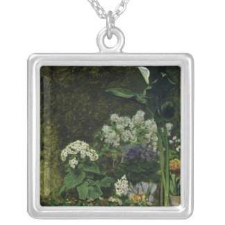 Pierre A Renoir | Flowers in a Greenhouse Silver Plated Necklace