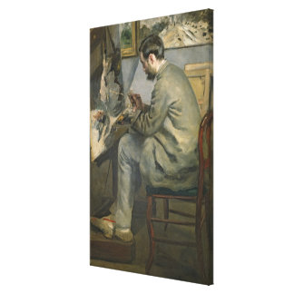 Pierre A Renoir   Frederic Bazille at his Easel Canvas Print