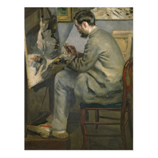 Pierre A Renoir | Frederic Bazille at his Easel Postcard