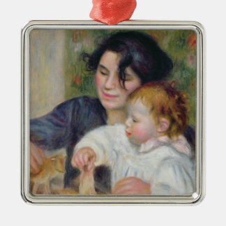 Pierre A Renoir | Gabrielle and Jean Silver-Colored Square Decoration