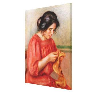 Pierre A Renoir   Gabrielle darning Canvas Print