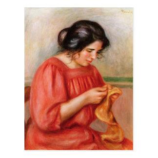 Pierre A Renoir | Gabrielle darning Postcard