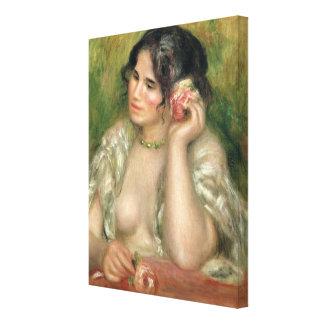 Pierre A Renoir   Gabrielle with a Rose Canvas Print